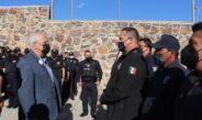 Realiza Beto Pérez pase de revista a elementos de Seguridad Pública